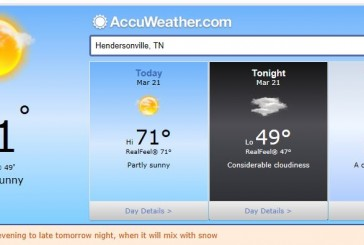 Hendersonville Weather March 21 2014