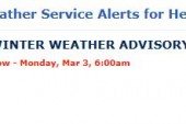 U.S. National Weather Service Alerts for Hendersonville, TN – WINTER WEATHER ADVISORY