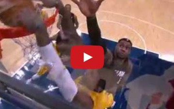 Watch Paul George's power dunk on LeBron James and the Miami Heat