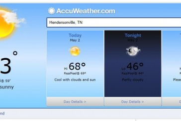 Hendersonville Weather Forecast May 2 2014
