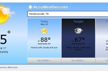 Weather Forecast Hendersonville and Nashville Tn May 12 2014