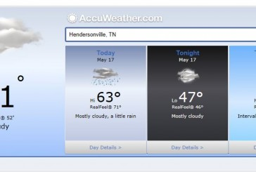 Weather Forecast Hendersonville and Nashville Tn May 17 2014