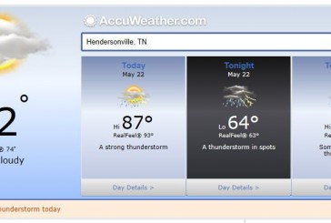 Weather Forecast Hendersonville and Nashville Tn May 22 2014