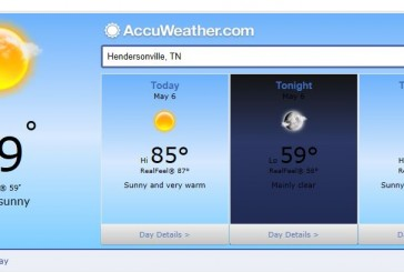 Weather Forecast Hendersonville and Nashville Tn May 6 2014