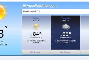 Weather Forecast Hendersonville and Nashville Tn May 28 2014