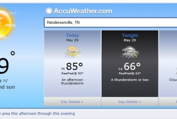 Weather Forecast Hendersonville Tn, Nashville and Middle Tennessee May 29 2014