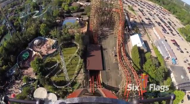 Goliath new triple record breaking wooden coaster