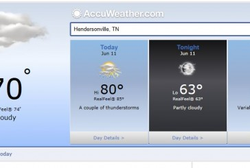 Weather Forecast Hendersonville Tn june 11 2014, including Nashville and Middle Tennessee