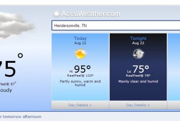Hendersonville Tn Weather Forecast August 22 2014