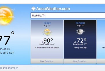 Weather Forecast Hendersonville and Middle Tennessee August 25 2014