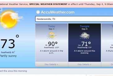 Hendersonville Weather Forecast September 4 2014
