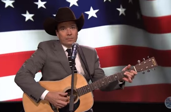 Jimmy Fallon & Adam Sandler Sing a Song For The Troops
