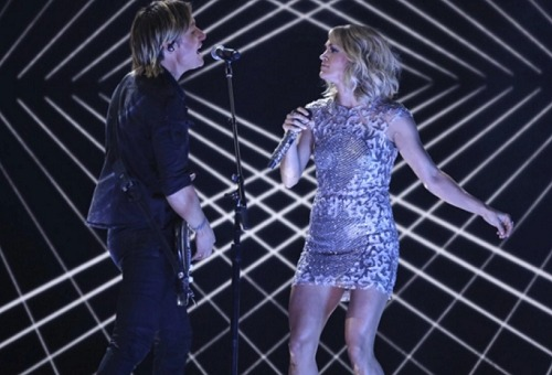 Carrie Underwood, Keith Urban Sing 'The Fighter' at 2017 Grammys | Variety
