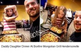 Daddy Daughter Time at BONFIRE MONGOLIAN GRILL Hendersonville