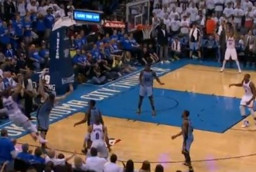 Kevin Durant's Wild Four Point Shot in the NBA Playoffs
