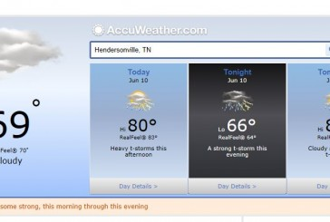 Weather Forecast Hendersonville Tn, local conditions for Nashville and Middle Tennessee june 10 2014