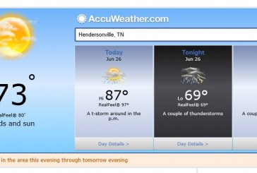 Weather Forecast Hendersonville Tn including Local Temps