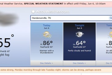 Hendersonville Tn Weather Forecast covering Nashville and Middle Tennessee June 6 2014